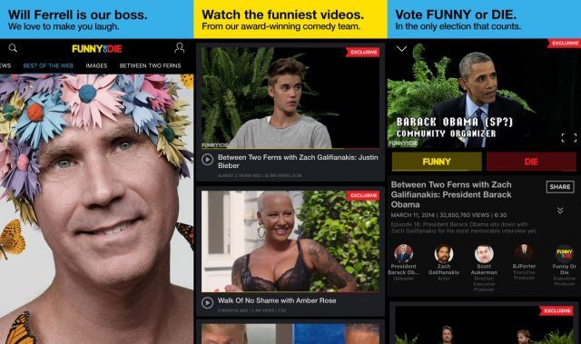 Funny or Die - funny apps for Android and iOS