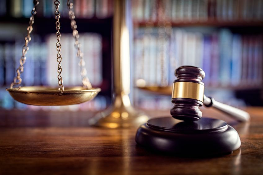 Judge's gavel and the scales of justice
