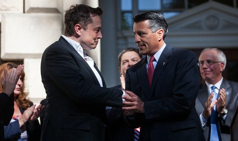 Tesla CEO Elon Musk with Nevada Governor Brian Sandoval