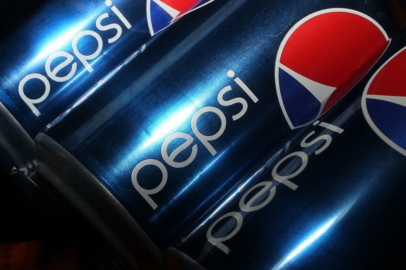 Cans of Pepsi sodas