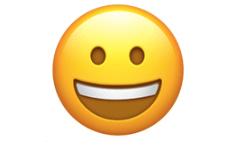 Grinning face emoji