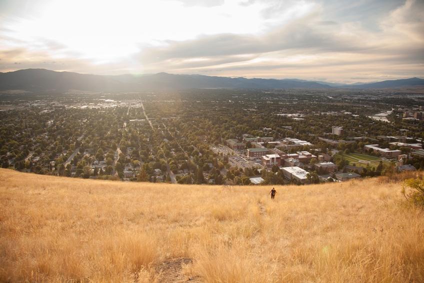 grassy hill in Missoula, Montana