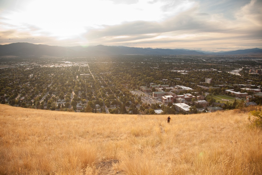 grassy hill in Missoula, Montana