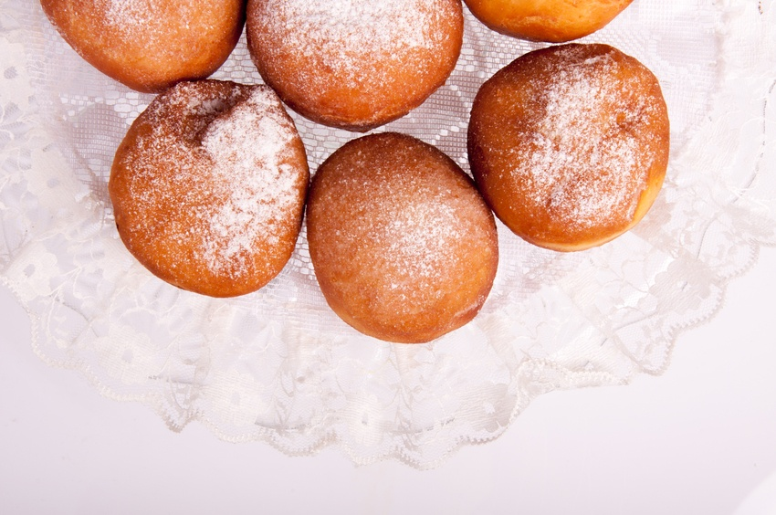 image of home made donuts