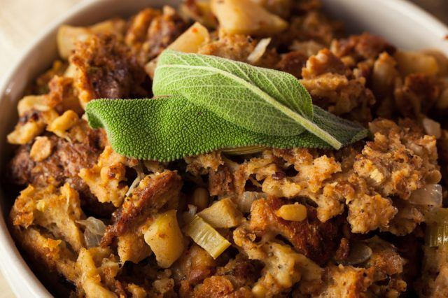 Thanksgiving Day Stuffing with Sage and Celery