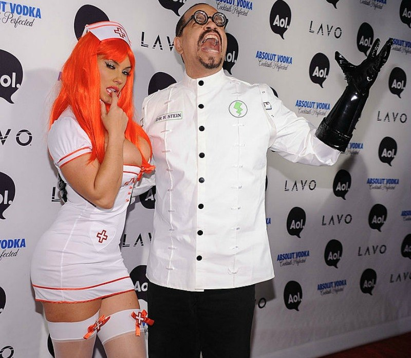 Ice T and Coco dress as a sexy nurse and a mad scientist