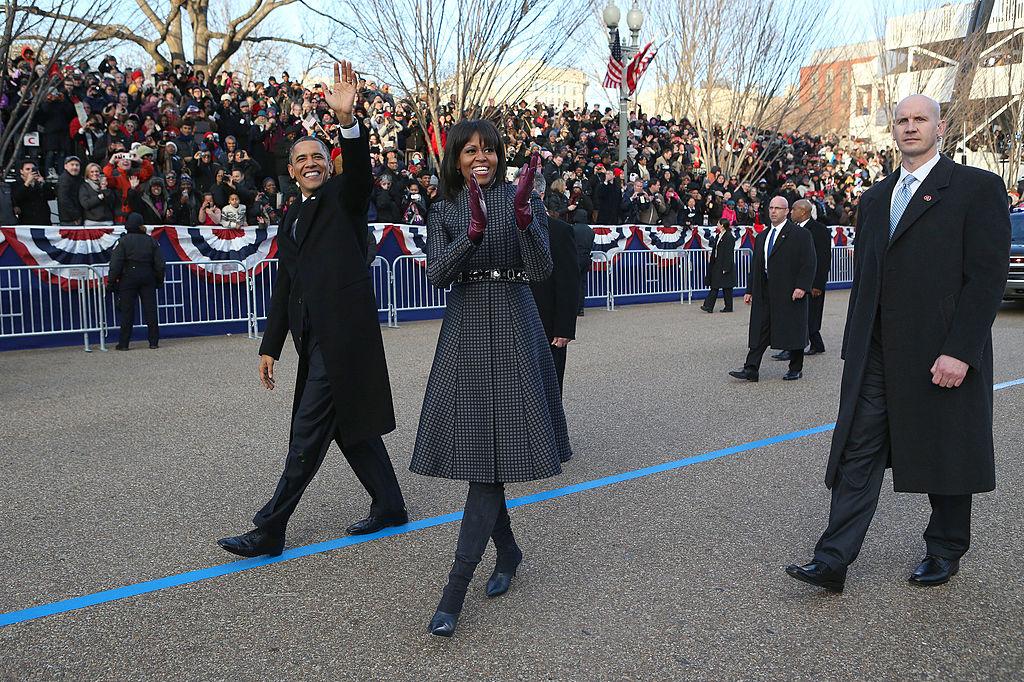U.S. President Barack Obama and first lady Michelle Obama