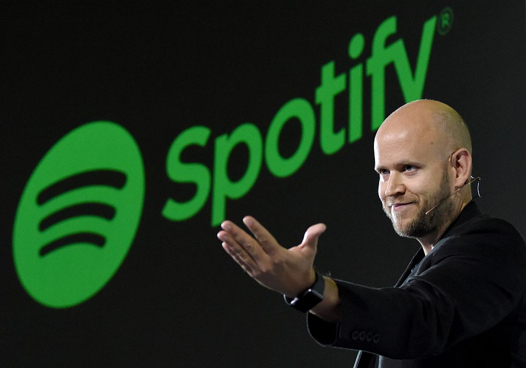 Daniel Ek, CEO of Swedish music streaming service Spotify