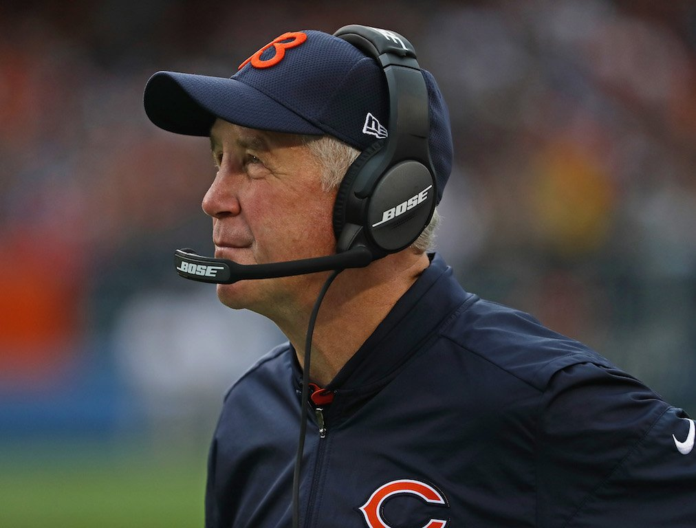 CHICAGO, IL - OCTOBER 02: Head coach John Fox of the Chicago Bears watches as his team takes on the Detroit Lions at Soldier Field on October 2, 2016 in Chicago, Illinois. (Photo by Jonathan Daniel/Getty Images)