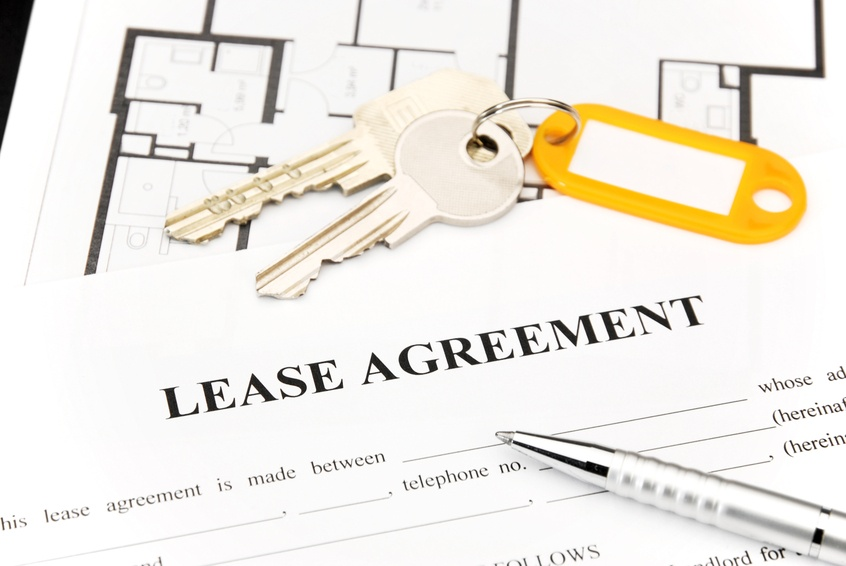 Lease agreement with keys