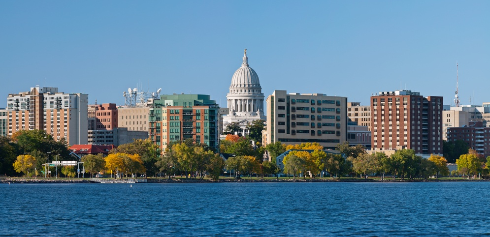 Madison, capital city of Wisconsin, USA