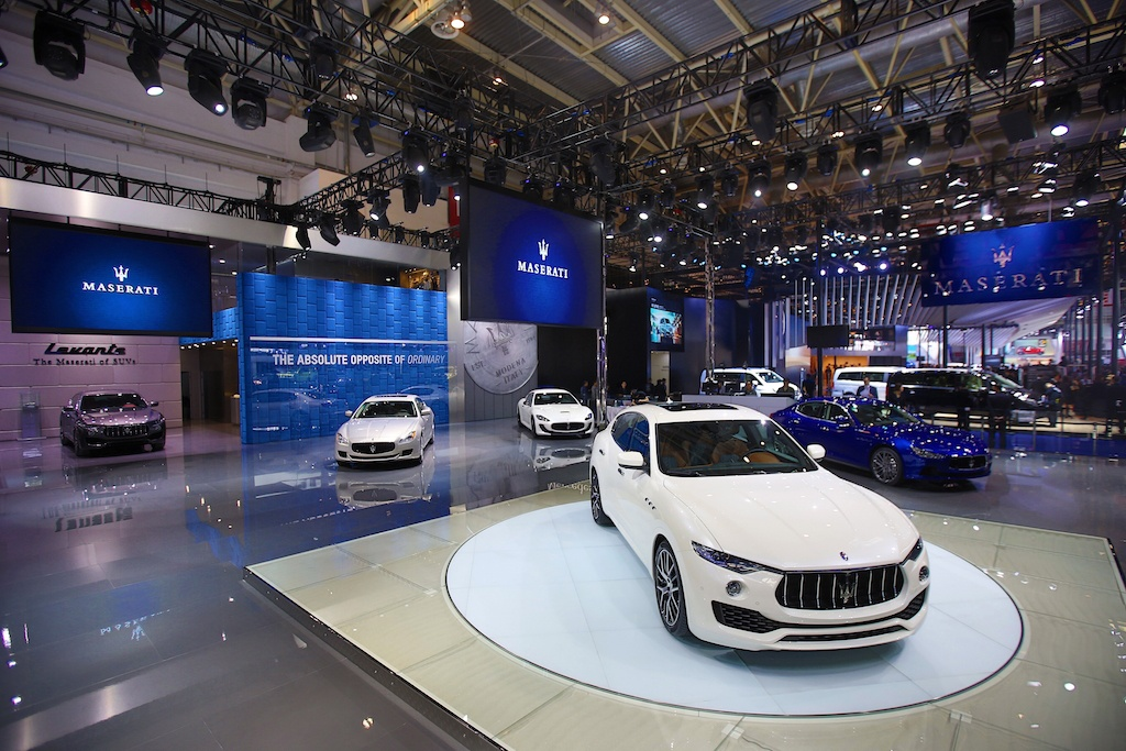 Maserati lineup at 2017 Paris Auto Show   Maserati