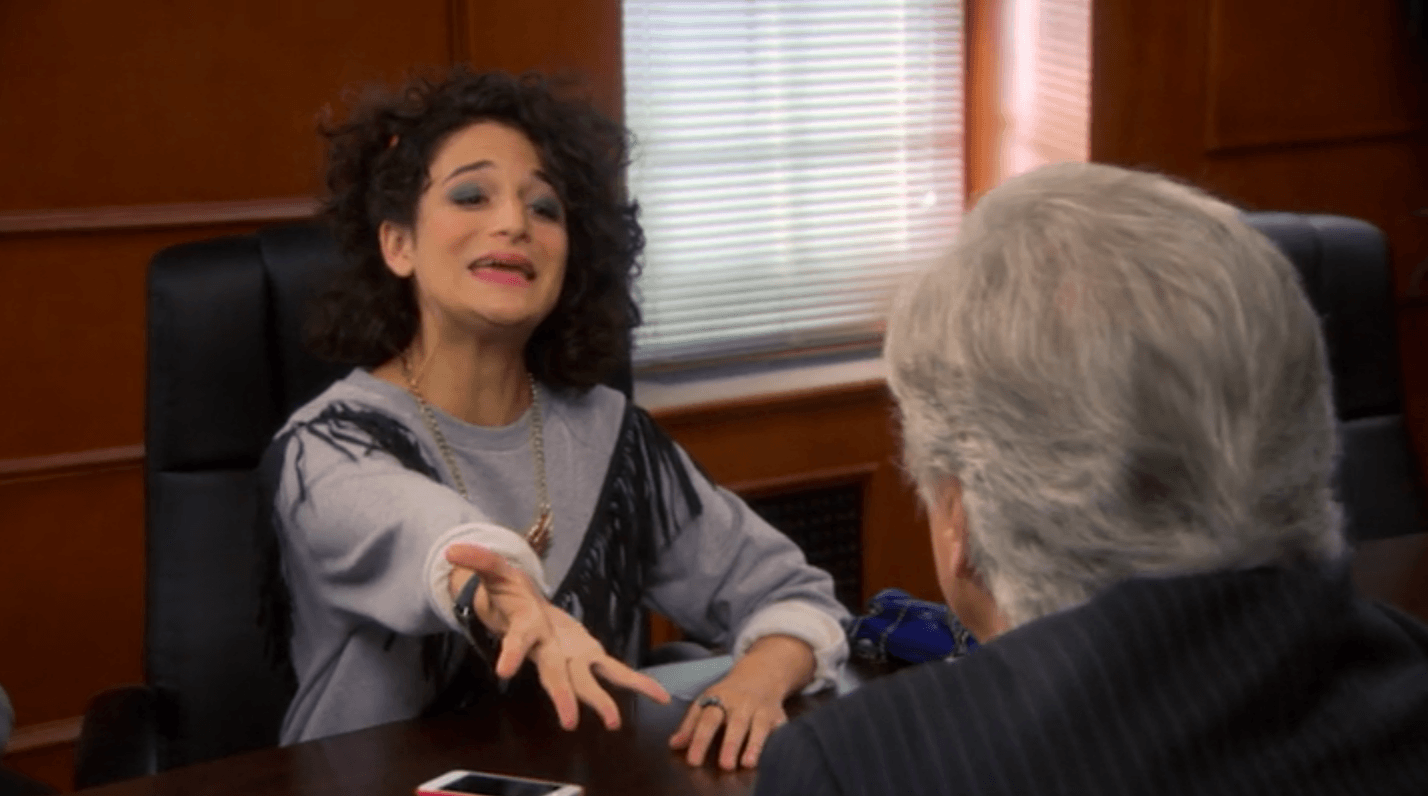 Mona-Lisa Saperstein from Parks and Recreation begs to borrow money from her father
