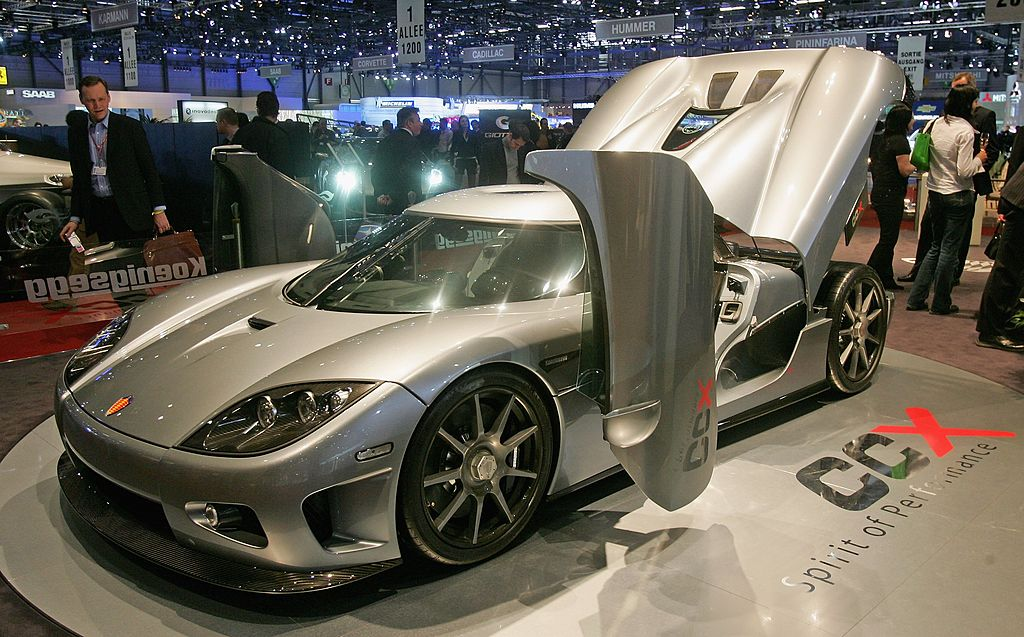 The new Koenigsegg CCR is unveiled as a world premiere presentation