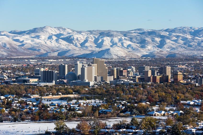 The Reno, Nevada skyline