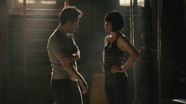 Paul Rudd and Evangeline Lilly in Ant-Man