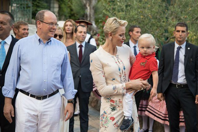 Prince Albert II of Monaco, Prince Jacques, and Princess Charlene of Monaco