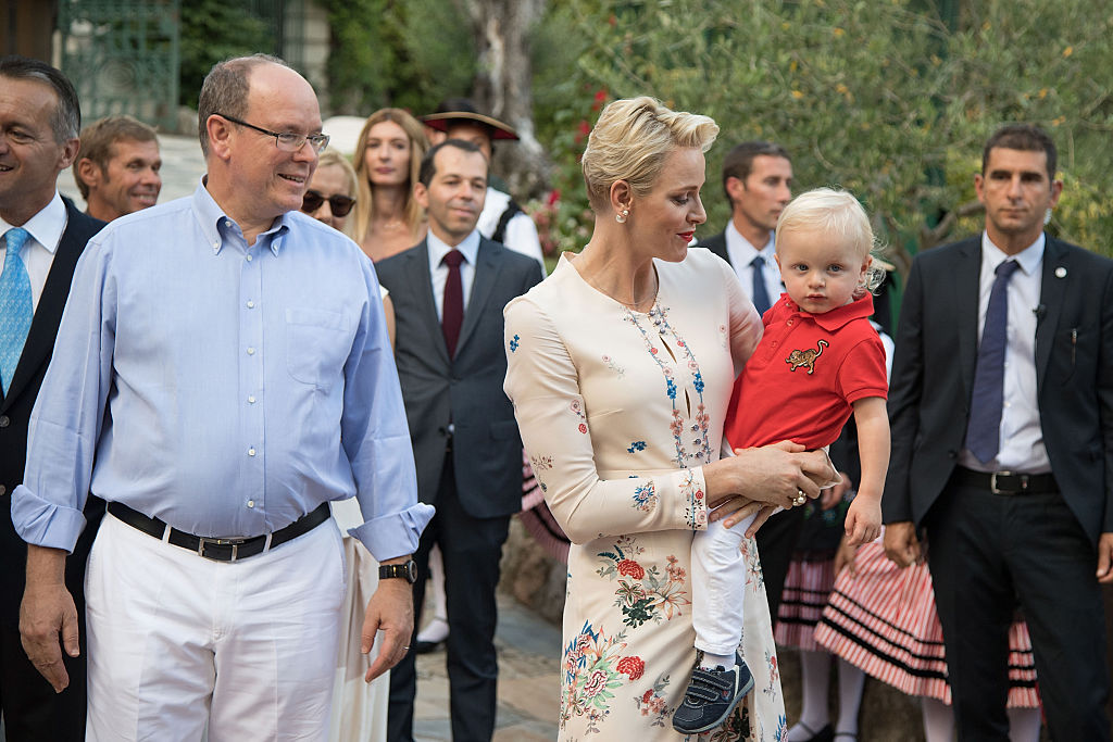 Prince Albert II of Monaco, Prince Jacques, Princess Charlene of Monaco