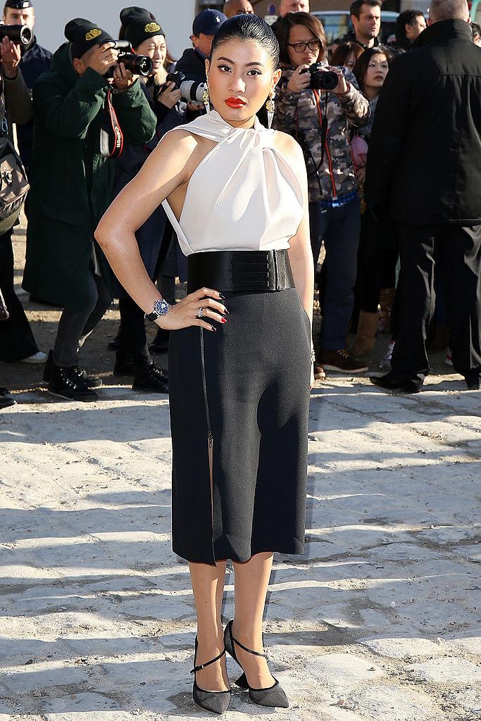 Siriwanwaree Nareerat attends Louis Vuitton show as part of the Paris Fashion Week
