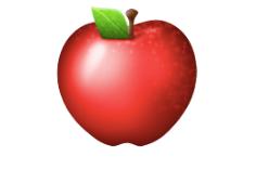 Red apple emoji