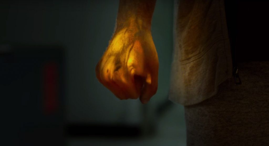 Danny Rand activates the Iron Fist
