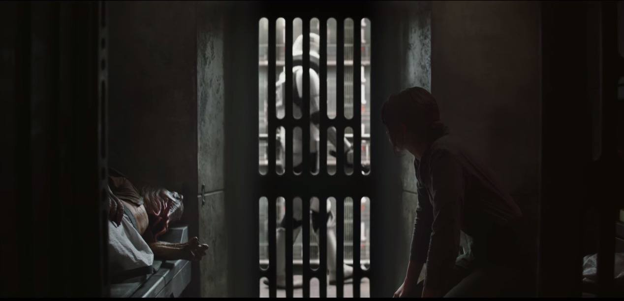 Jyn Erso in an Imperial prison - Rogue One