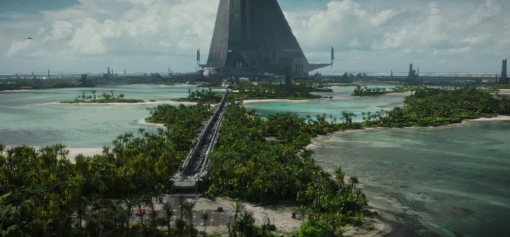 The Imperial facility on Scarif in Rogue One