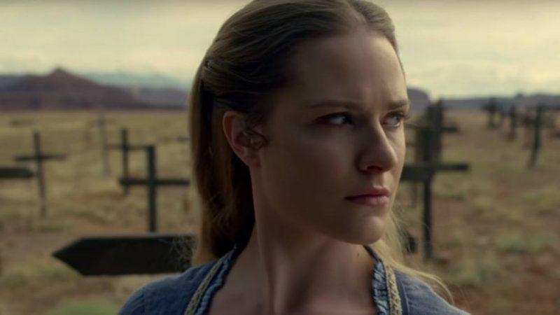 Evan Rachel Wood as Dolores in Westworld