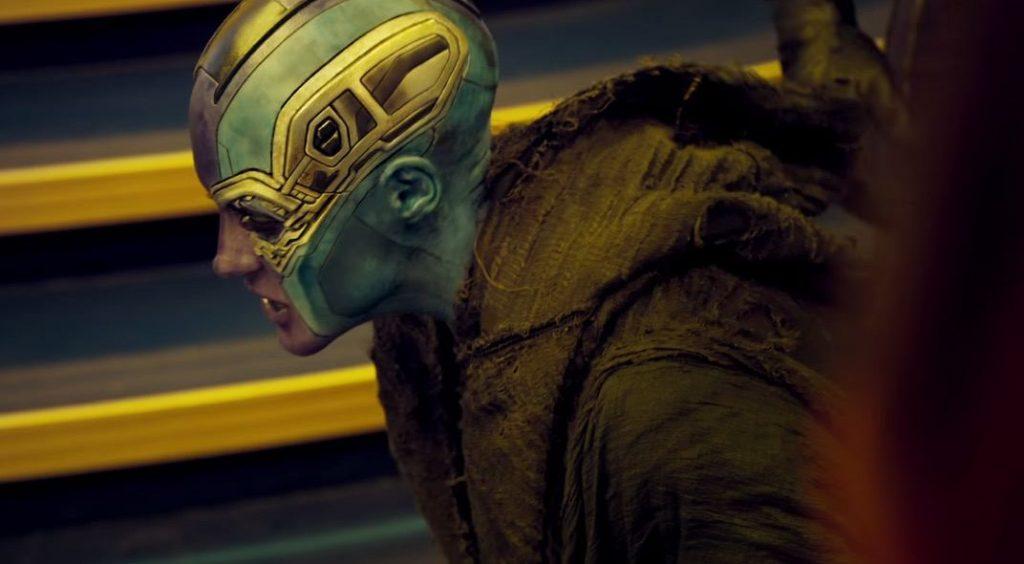 Karen Gillan as Nebula in Guardians of the Galaxy Vol. 2