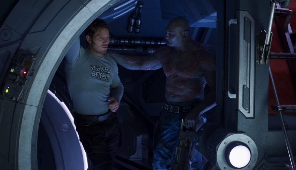 Star-Lord and Drax in Guardians of the Galaxy Vol. 2