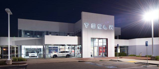 A Tesla Service Center in Dublin, Ireland