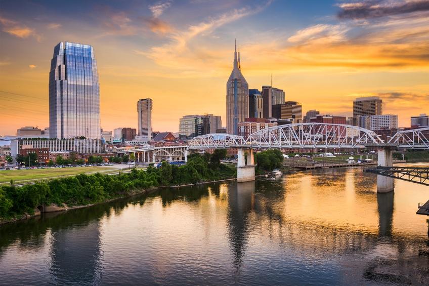skyline of downtown Nashville, Tennessee