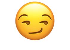 Smirking face emoji
