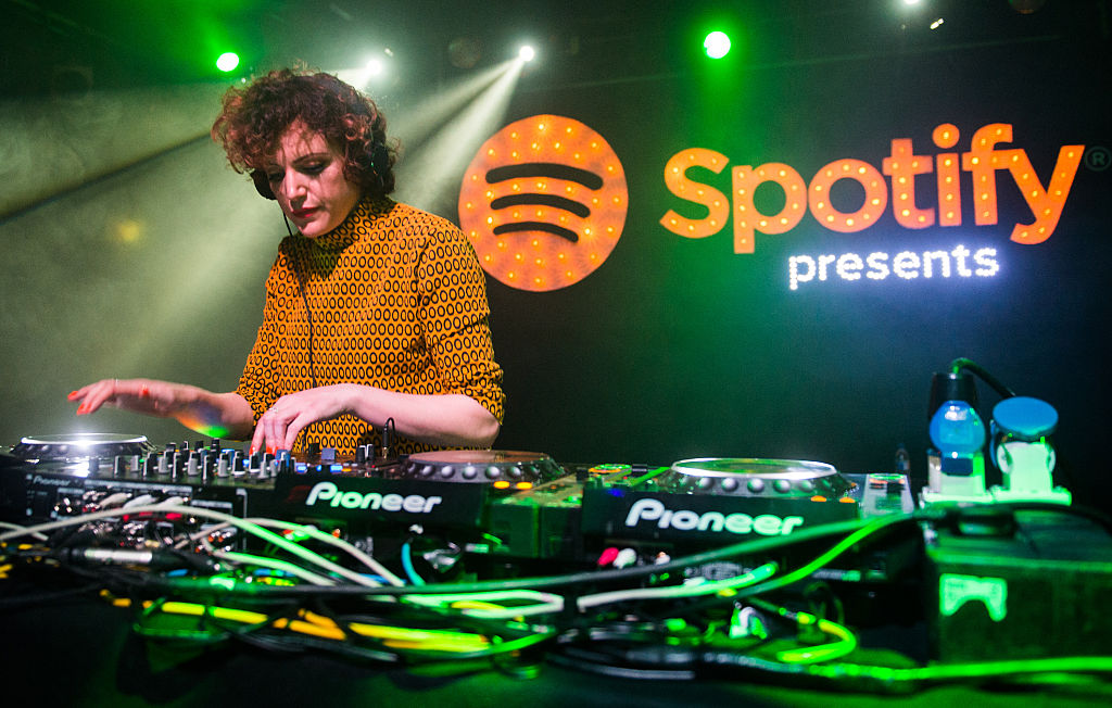 Annie Mac performs at the Spotify Opening Gig