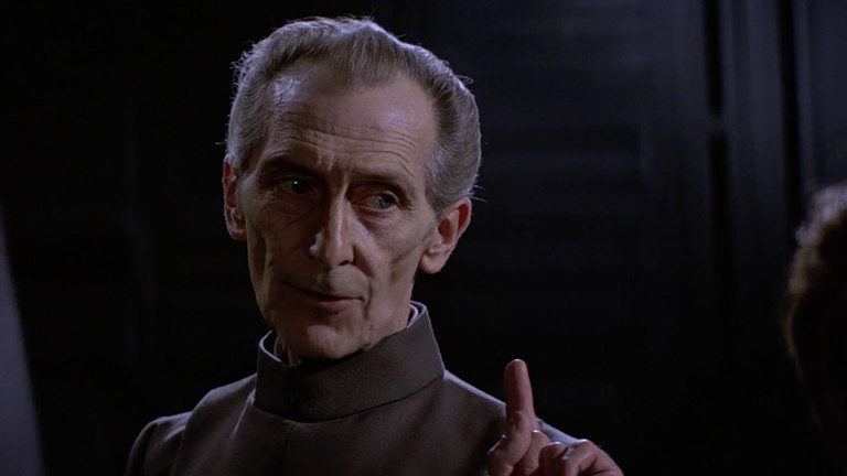 Grand Moff Tarkin in Star Wars: A New Hope