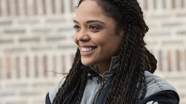 Tessa Thompson smiling in 'Creed'.