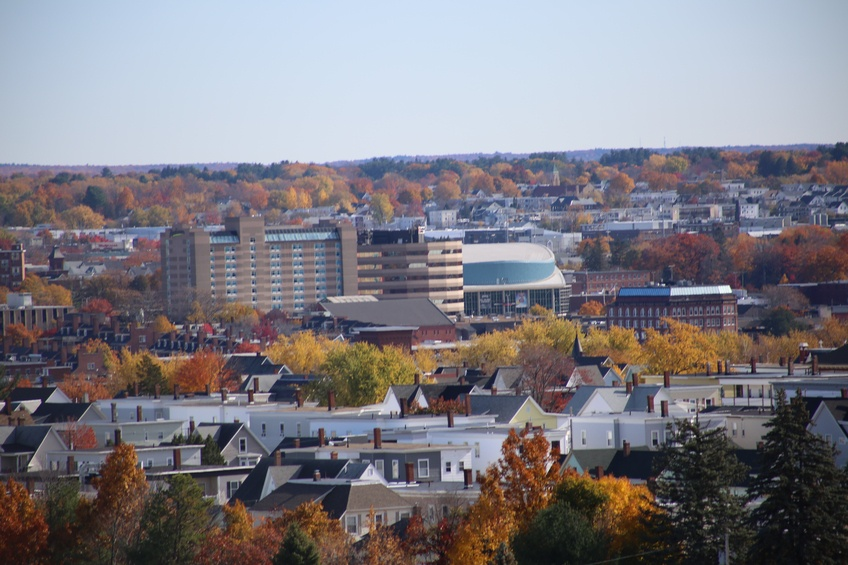City of Manchester, NH from Rock Rimmon