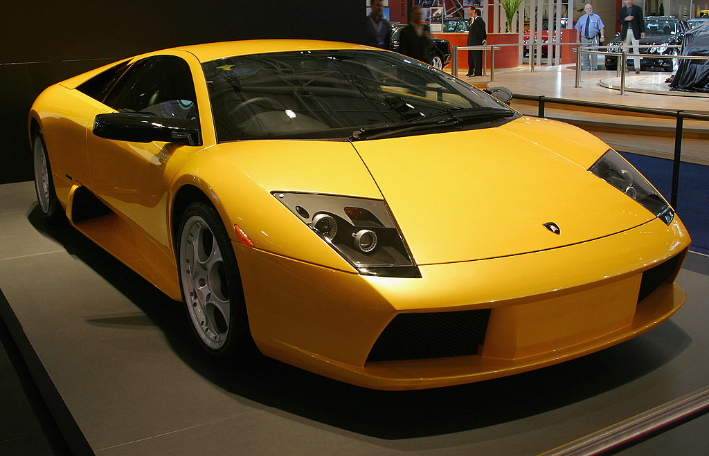 The Lamborghini Murcielago on display at the Sydney International Motor Show