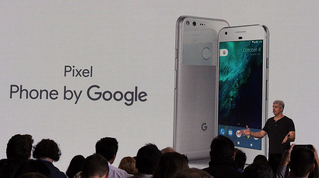 Google hardware team head Rick Osterloh introduces a new Pixel smartphone