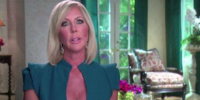 Vicki Gunvalson during an interview on 'Real Housewives of Orange County'.