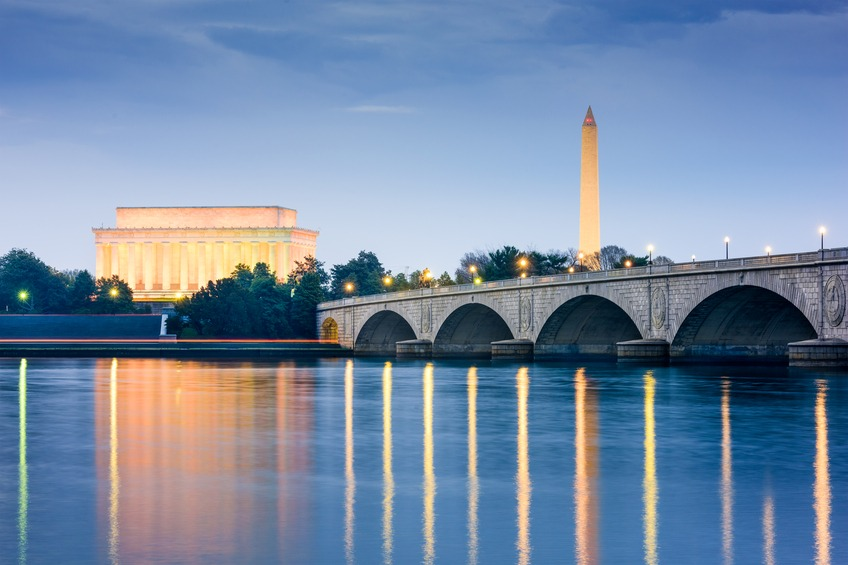 The Lincoln Memorial and Washington Monument in Washington D.C