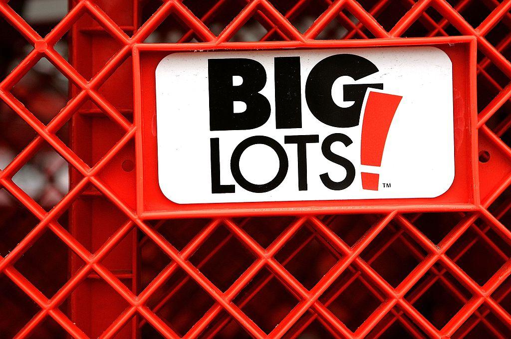 big lots shopping cart and logo