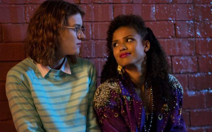 "Gugu Mbatha-Raw as Kelly Booth and Mackenzie Davis as Yorkie in ""San Junipero"""