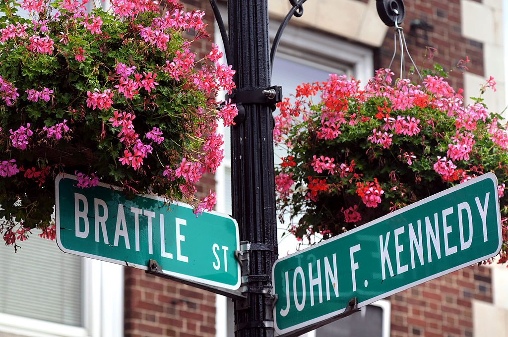 The intersection of Brattle and John F. Kennedy streets in Cambridge, near Harvard and MIT
