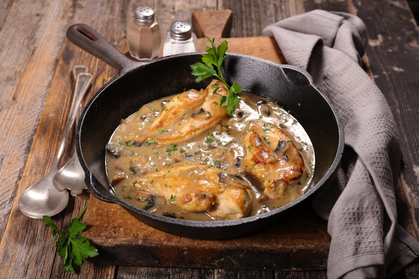 one-pot chicken with mushrooms