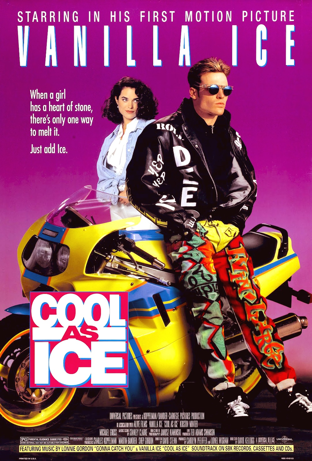 Movie poster for 'Cool As Ice' by Vanilla Ice