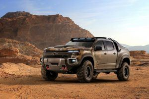 Check Out Chevy's New Hydrogen-Powered ZH2 Colorado Military Pickup