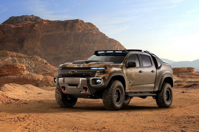 GM Hydrogen ZH2 Colorado Military Pickup