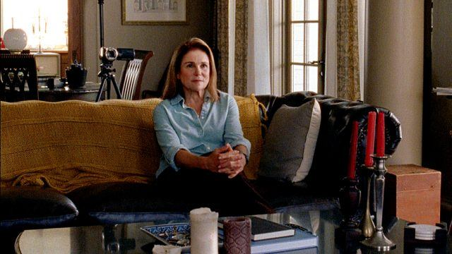 Deanna (Tovah Feldshuh) sits on a couch in a scene from 'The Walking Dead's fifth season