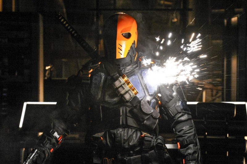 Manu Bennett as Deathstroke in Arrow